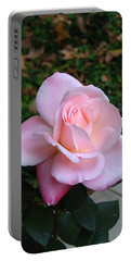 Portable Battery Charger featuring the photograph Pink Rose by Carla Parris