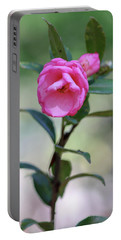 Pink Rose Flower Portable Battery Charger