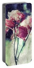 Pink Rose Flowers Portable Battery Charger