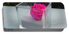 Pink Rose In Venice Portable Battery Charger