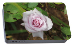 Portable Battery Charger featuring the photograph Pink Rose by Jerry Battle