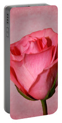 Portable Battery Charger featuring the photograph Pink Rose by Judy Vincent