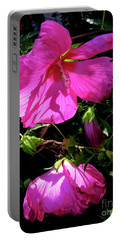 Pink Rose Mallow In Colorado Portable Battery Charger