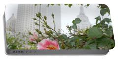 Pink Rose Of Tulsa Portable Battery Charger