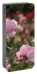 Portable Battery Charger featuring the photograph Pink Roses by Laurel Powell