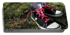 Pink Shoe Laces Portable Battery Charger