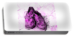 Portable Battery Charger featuring the photograph Pink Shoes by John Stephens