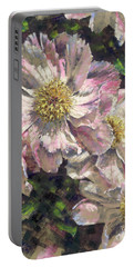 Pink Single Peonies Portable Battery Charger
