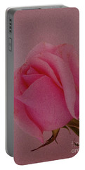 Pink Single Rose Portable Battery Charger