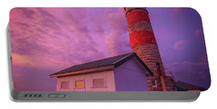 Pink Skies At Cape Moreton Lighthouse Portable Battery Charger