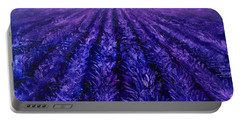 Pink Skies - Lavender Fields Portable Battery Charger by Karen Whitworth