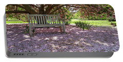 Portable Battery Charger featuring the photograph Pink Snow by Liza Eckardt