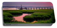 Pink Sunrise At Bogue Sound Portable Battery Charger