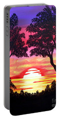 Pink Sunset Portable Battery Charger