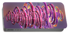 Portable Battery Charger featuring the digital art Pink Swirls by Rosalie Scanlon