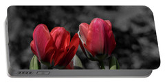 Pink Tulip Pop Portable Battery Charger