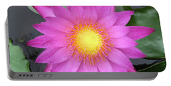Pink Water Lily Flower Portable Battery Charger by Tony Grider