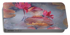 Pink Waterlilies Portable Battery Charger