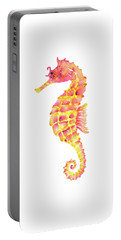 Pink Yellow Seahorse Portable Battery Charger