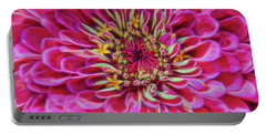 Pink Zinnia Glow Portable Battery Charger