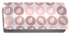 Pinkish Leaves Portable Battery Charger