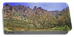Portable Battery Charger featuring the photograph Pinnacles National Park Watercolor by Art Block Collections