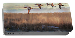 Pintail Fly By Portable Battery Charger by Rob Corsetti