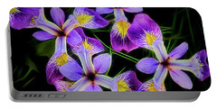 Pinwheel Purple Iris Glow Portable Battery Charger