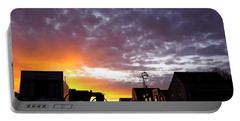 Pioneer Town Sunset Portable Battery Charger