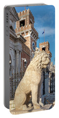 Portable Battery Charger featuring the photograph Piraeus Lion by Fabrizio Troiani