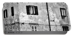 Portable Battery Charger featuring the photograph Piran Windows - Slovenia by Stuart Litoff