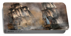 Pirate Battle Portable Battery Charger by Daniel Eskridge