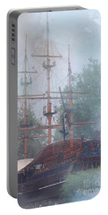 Pirate Ship Hiding In Cove Portable Battery Charger