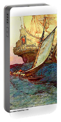 Pirates Attacking A Galleon, Howard Pyle Portable Battery Charger