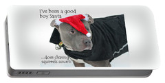 Pit Bull Christmas Two Portable Battery Charger