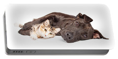Pit Bull Dog And Kitten Cuddling Portable Battery Charger