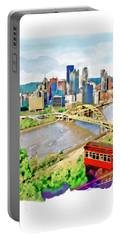 Pittsburgh Aerial View Portable Battery Charger by Marian Voicu