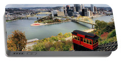 Pittsburgh From Incline Portable Battery Charger