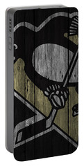 Pittsburgh Penguins Wood Fence Portable Battery Charger