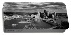 Pittsburgh Skyline With Boat Portable Battery Charger
