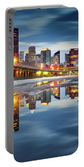 Portable Battery Charger featuring the photograph Pittsburgh Strip District by Emmanuel Panagiotakis