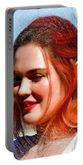 Portable Battery Charger featuring the photograph Pixie by Kathy Baccari