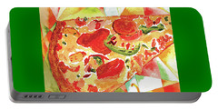 Pizza Pizza Portable Battery Charger by Paula Ayers