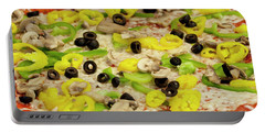 Pizza With Peppers Portable Battery Charger