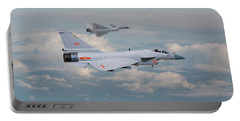Portable Battery Charger featuring the photograph Plaaf J10 - Vigorous Dragon by Pat Speirs
