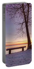 Portable Battery Charger featuring the photograph Place For Two by Davor Zerjav