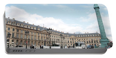 Portable Battery Charger featuring the photograph Place Vendome by Christopher Kirby