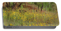 Portable Battery Charger featuring the photograph Plains Coreopis by Maria Urso