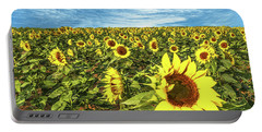 Plains Sunflowers Portable Battery Charger