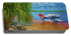 Plane On The Lake Portable Battery Charger